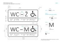 Štítek wc ženy muži bezbariérové technický popis (jpg; 499 KB)