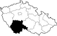 mapa Jihočeský kraj