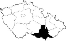 mapa Jihomoravský kraj