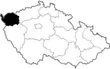 mapa Karlovarský kraj