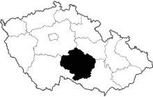 mapa kraj Vysočina