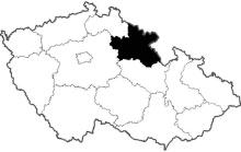 mapa Královehradecký kraj