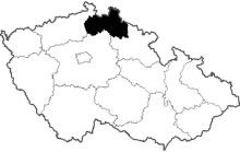 mapa Liberecký kraj