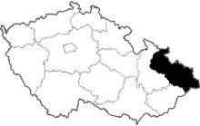 mapa Moravskoslezský kraj