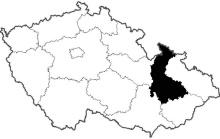 mapa Olomoucký kraj