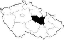 mapa Pardubický kraj