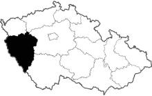 mapa Plzeňský kraj