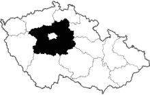 mapa Středočeský kraj