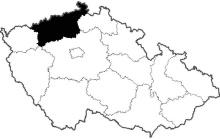 mapa Ústecký kraj