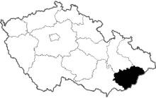 mapa Zlínský kraj
